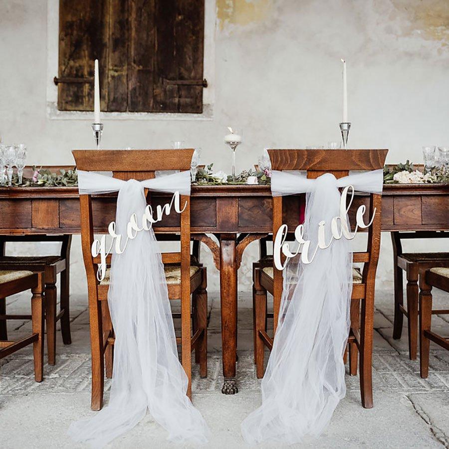 sedie sposi per tavolo da matrimonio