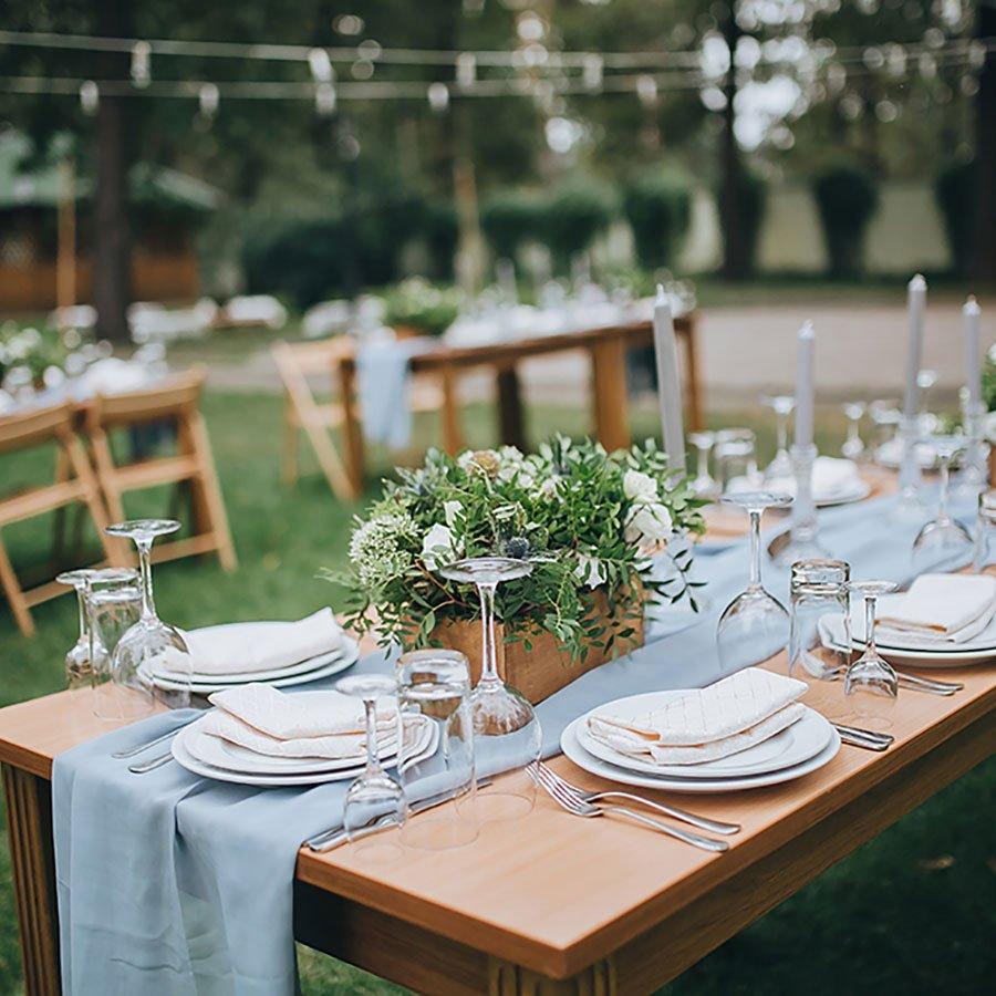 tavola addobbata matrimonio